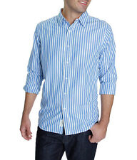 Club Room Fitted Casual Button Front Long Sleeve Cotton Shirt