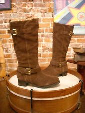 Hot in Hollywood Brown Suede Moto Riding Boots New