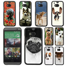 Dog Puppy Pet Pattern Hard Phone Case Cover for HTC ONE M8