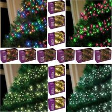 WHITE & WARM WHITE LED CLUSTER LIGHTS CHRISTMAS TREE LAMP XMAS OUTDOOR INDOOR