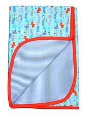 Boys Infant 2 layer Puppy Dogs Allover Print Le Chien Baby Blanket By Zutano