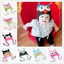 New Stylish Cute Baby Boy/Girl/Toddler Owls Knit Crochet Hat Beanie Cap 9 Colors