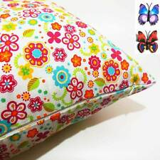 FFA-113 CC RED MAIN FLORALS  CANVAS CUSHION COVER SQUARE+BUTTERFLY PINS