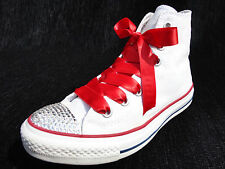 Women's Converse All Star Hi Tops Blinged - Swarovski Crystals Lucy's Boutique *