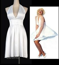 Sexy Halloween Marilyn Monroe Costume White Size S-6XL Dress MMS A3231_Monroe