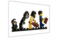 EVOLUTION OF LEGO KIDS CANVAS PRINTS WALL ART PICTURES WALL DECORATION PHOTOS