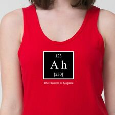 Element Of Surprise AH Greek Periodic Table Tee Funny Chemistry Adult Tank Top