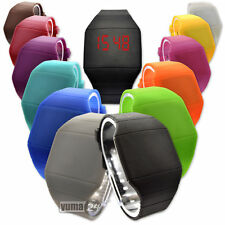New School Boy Girls LED Digital Touch Screen  Rubber Outdoor Sport Quartz Watch