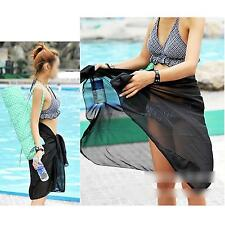 5 Colors Women Chiffon Wrap Pareo Mantillas Beach Bikini Swimwear Cover Up Scarf