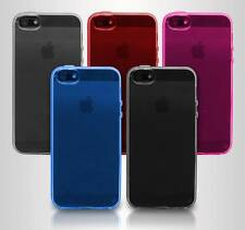 Transparente Claro Carcasa En Gel TPU Piel Para Apple iPhone 5 5G 5S
