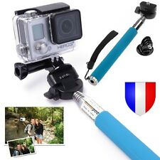 MONOPOD PERCHE STICK Aluminium 110cm + FIXATION SUPPORT GoPro HD Hero 2 3 3+ 4