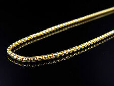 """Solid 10k Yellow Gold Rounded Hollow Rolo Style Chain Necklace (2.0mm) 22-36"""""""