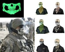 6 Colors Ghost Ski Mask Skull motorcycle Half Face Mask Winter Neck Warmer