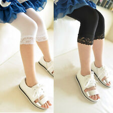 Candy Color Kid Girl Slim Lace Velvet Stretchty Legging Tights Stocking Sock B91