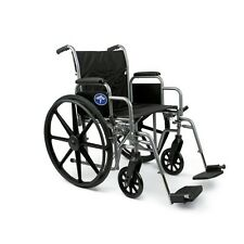 "Medline Excel K1 Wheelchair, 2 Seating Width options, ""Desk Arms"""