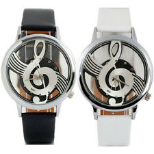Geneva Watches Note Music Notation Leather Quartz Wristwatch Fashion Cheap