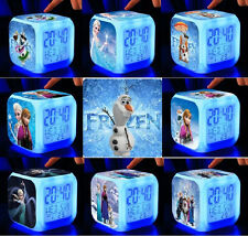 LED Flash Alarm Clock Frozen Elsa & Princess Anna Olaf Sven Xmas Gifts