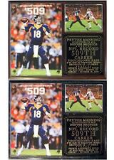 Peyton Manning #18 Record 509 Career TD Passes Denver Broncos Photo Plaque