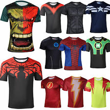 Mens Casual Marvel Comics Superhero The Avengers T-Shirt Cosplay Jersey Tee Tops