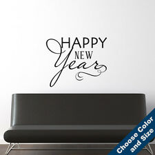 Happy New Year Wall Decal -Vinyl Sticker