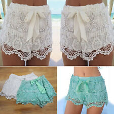 Casual Womens Ladies Celebrity Floral Printing Shorts Hot Pants Festival Pom-Pom