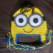 new minion from Despicable me crochet hat you pick the Size AND COLOR