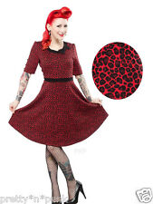 sourpuss BETTY LEOPARD DRESS PINUP rockabilly top retro swing 50s bettie page oi