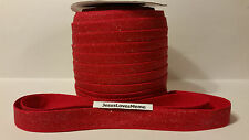 "FOE (Fold Over Elastic) 5/8"" Red Glitter, Christmas, Head Bands, Pony Tail Ties"