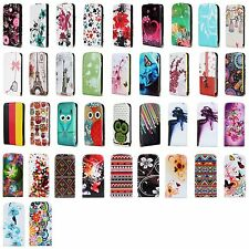 Fashion Magnetic PU Leather Up And Down Mobile Phone Flip Case Cover For HTC