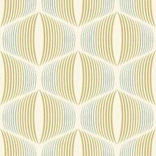 NEW GRANDECO RETROSPECTIVE STRIPE MOTIF RETRO VINTAGE PATTERN TEXTURED WALLPAPER