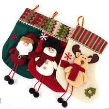 Cute Christmas Decoration Supplies Stocking Reindeer Snowman Santa Claus 3 Style