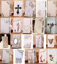 New Bling Crystal Rhinestone Diamond Flip Wallet Leather Case Cover for Phone