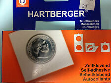 New  Hartberger Coin Holder SELF ADHESIVE Free Selectable All Sizes from 15-53mm