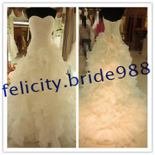 STOCK New White/ Ivory Wedding Dress Bridal Gown Custom Size 6-8-10-12-14-16