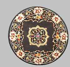"Royal Palace Area Throw Rug Elegant Medallion 4'6"" Round Wool H199865 Colors"