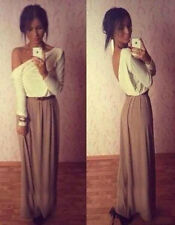 Elegant Women Sexy Backless Party Evening Cocktail Prom Long Maxi Dress