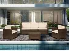 Luxury Rattan Sofa Set Garden Furniture Patio Conservatory Wicker Outdoor New