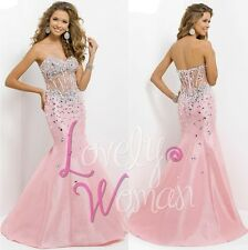 2015 Elegant Beaded Pageant Formal Party Prom Dress Evening Graduation Ball Gown
