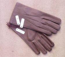 Light Brown (Tobacco) Deerskin Leather Mens Gloves by Dents - Cashmere Lining