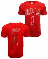 Chicago Bulls Derrick Rose #1 Name & Number T-shirt NBA Official Go-To Tee