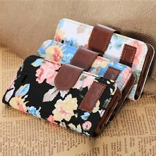 Cheap 1PC Magnetic Wallet Floral Jacquard Leather Cover Case For iPhone 5C
