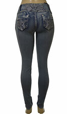 Stretch Push-Up colombian style levanta cola skinny jeans  in MEDIUM BLUE 063