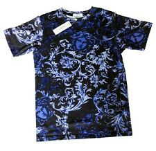 Brand New Authentic Blue Baroque Versace T-Shirt With Medusa Heads XL