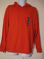 New Gap Men burnt orange hooded long sleeve henley shirt size M XL XXL