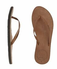 NEW REEF GIRLS LEATHER UPTOWN BROWN FLIP FLOPS SANDALS WOMENS 6 7 8 9 10 CUTE