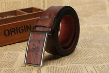 Men Metal Buckle Leather Waistband Vintage Classic Pin Buckle Belts New Popular