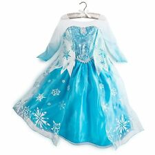 Disney Frozen Princess Elsa Anna Girls Dress Costume Party Fancy Dress