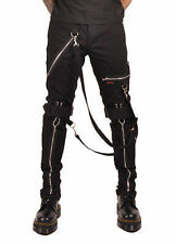 Tripp Nyc Classic Bondage Pants Mens Rock Punk Skater Chains Skull Metal 28-38