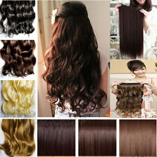 """Long Beauty Women Hair Extensions Clip in Synthetic Wavy Curly Straight 18""""-24"""""""
