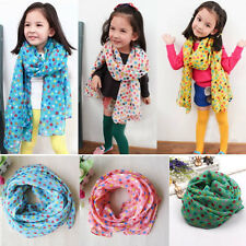 Hot fashion dot children scarf Silk chiffon Baby Neck Scarf The girl Scarf Shawl